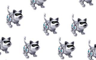 Кот становится роботом